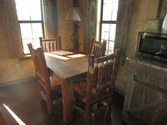 Country Inn & Cottages: handmade table and chairs