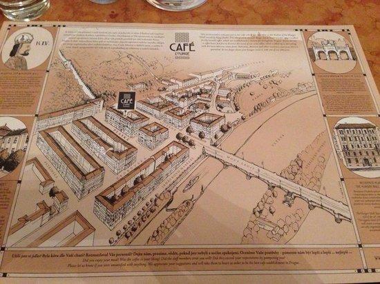 Hunger Wall Residence: Mappa dal café