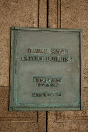 Hawaii State Capitol: Plaque