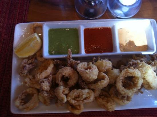 Moderne Barn: Calamari cooked perfectly !