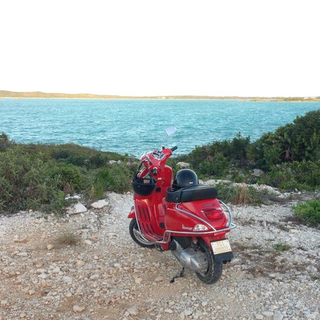 Paradise Scooters: chalk sound beach
