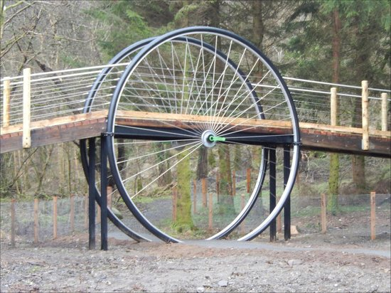 Kirroughtree - 7stanes: The Kirroughtree Wheel - new attraction beside the Centre.