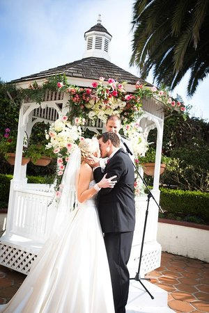 Hotel Laguna Romantic Rose Garden Wedding With White Gazebo