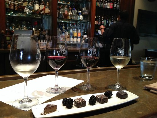 Estancia La Jolla Hotel & Spa : Wine and chocolate decadence at the hotel's Trinitas Wine Cellars