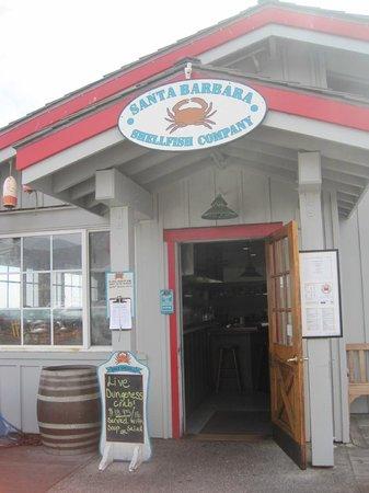 Santa Barbara Shellfish Company: The main entrance.
