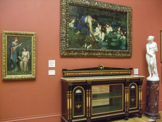 Manchester Art Gallery: Waterhouse's Hylas and the Nymphs