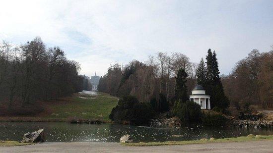 Bergpark: Вид на главный каскад водопада
