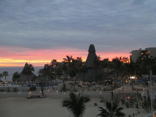 Sandos Finisterra Los Cabos: Sunset view from balcony 1236