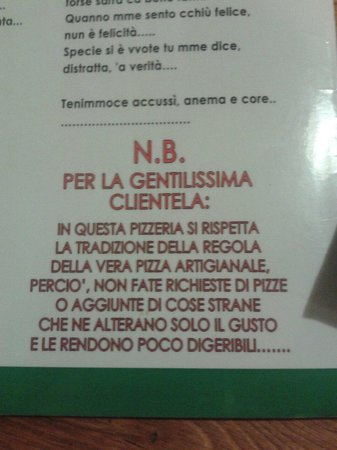 Pizzeria Antica Stabia: I shall not compromise!