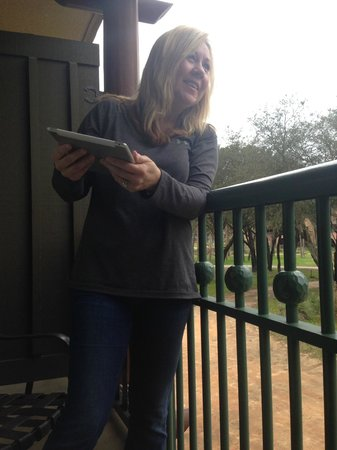 Disney's Animal Kingdom Lodge: My wife so exited about the views