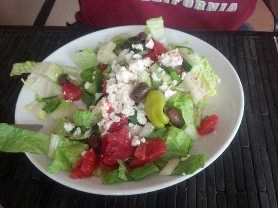Greek salad at Havana Cabana