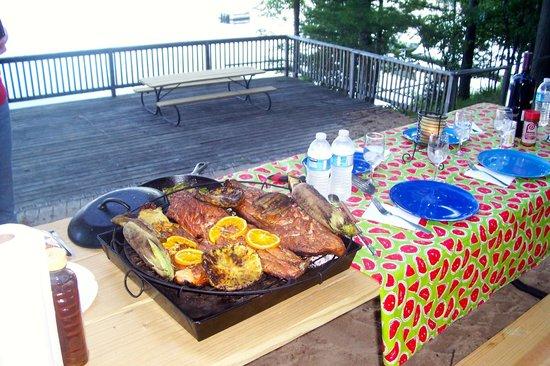 Enjoy great food lake side