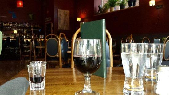 The Fresh Palate: Michigan wine. Marechal Foch. Pretty dry, full body, smooth. Nice.