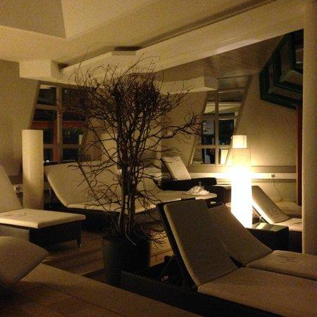 Theresia Gartenhotel : SPA da dinlenme alanı