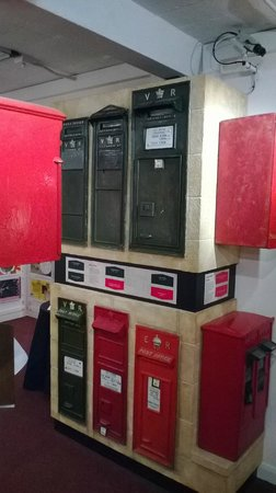 Bath Postal Museum: various old post boxes