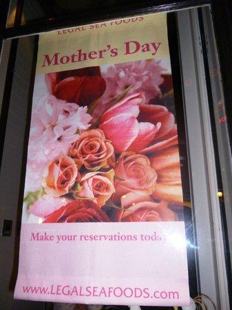 Legal Sea Foods : Хороший подарок на День матери - посетить этот ресторан! Правильный.