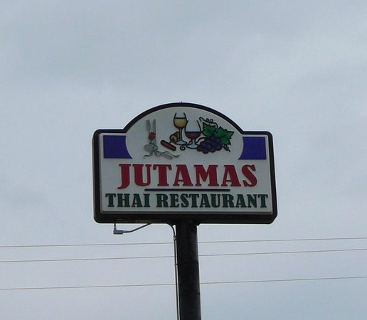 Jutamas Thai Restaurant: Jutamas sign