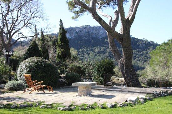 Finca Hotel Son Palou: Blcik in den Vorgarten der Finca