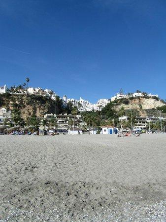 Playa de Burriana: de verderop liggende complexen/appartementen