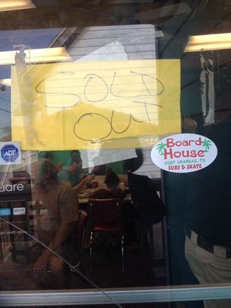 Irie's Island Food: Sold out at Irie's