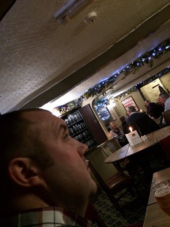 The Cavendish Arms: You can't quite see the open fire but you can see what a lovely place it is