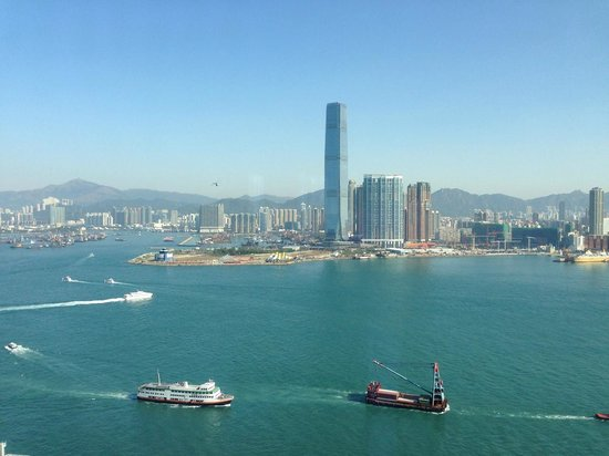 Four Seasons Hotel Hong Kong: View from my room in the AM