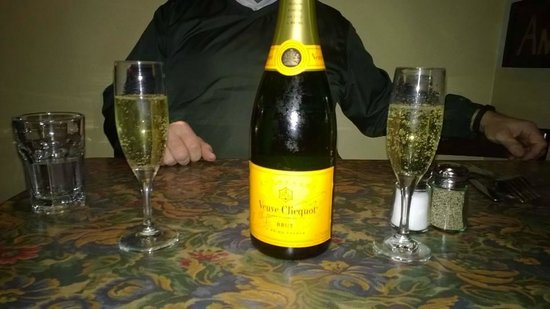 The Depot Restaurant: Birthday Champagne, a well rounded wine selection....