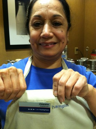 Hampton Inn & Suites Dothan : Rizwana your breakfast host, she is Hampton Inn!