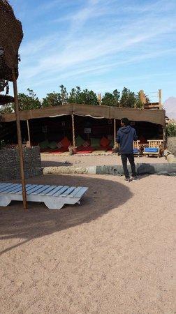 Coral Coast Hotel: spiaggia con tenda beduina