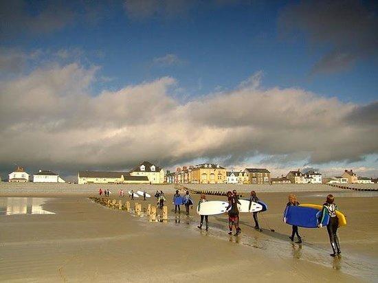 School Surf Lesson At Ynyslas Picture Of Aber Adventures Aberystwyth Tripadvisor