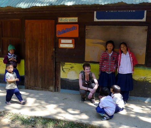 Next Step Thailand (Travel with Joe) Cycling and Hiking Private Day Tours : Karen Village School