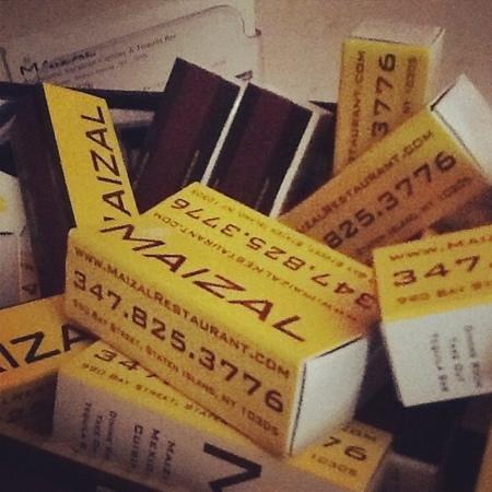 Maizal Restaurant Astoria: matches