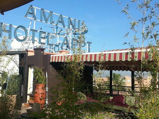 Amani Hôtel Appart : Dachterrassse