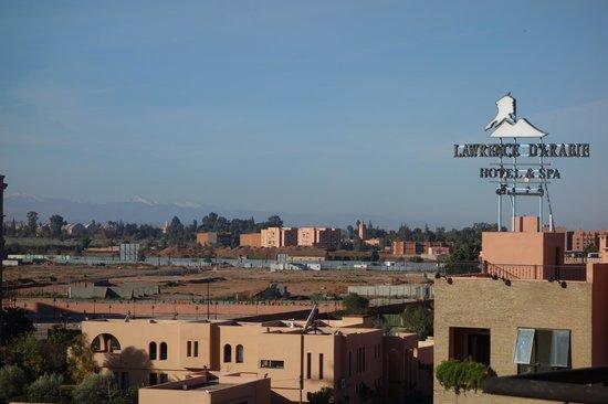 Amani Hôtel Appart : Blick von der Dachterrasse