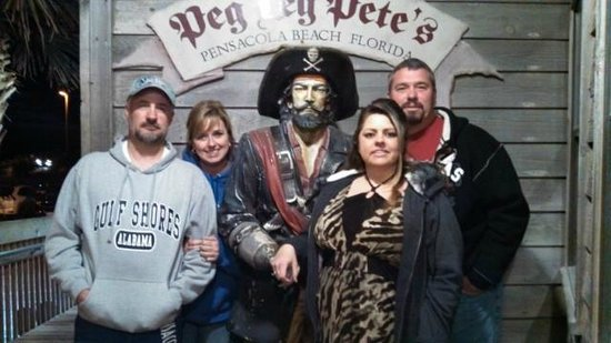 Peg Leg Pete's: Here we are with Pete...