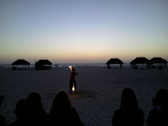 Quinn's On the Beach : Fire twirler