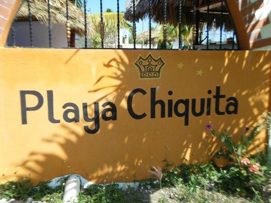 Playa Chiquita: Entrée