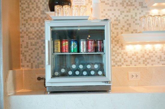 Dusit Thani Hua Hin: Club lounge soft drink selection