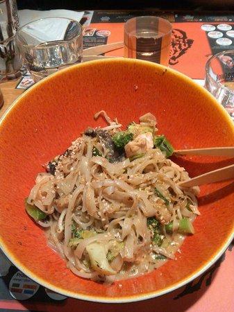 Tiger Wok: Plat au wok