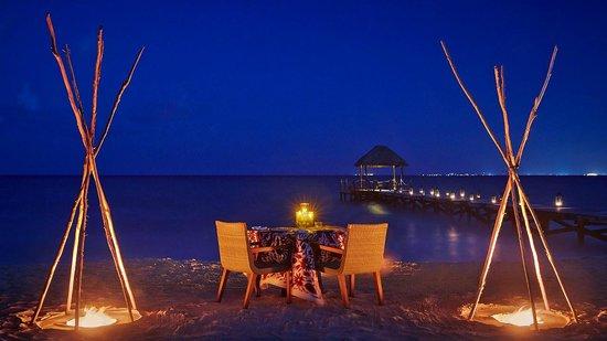 Viceroy Riviera Maya: Beachside Dinner in the Sand