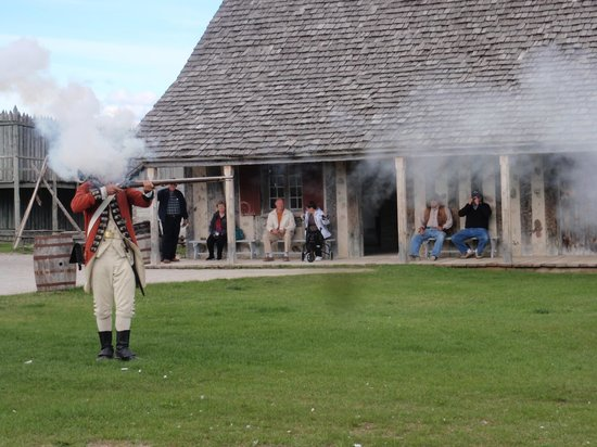 Colonial Michilimackinac: Re-enactment of the shooting of the rifle