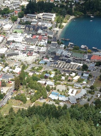 Novotel Queenstown Lakeside: Novotel at top of picture ( from bob's peak gondola)