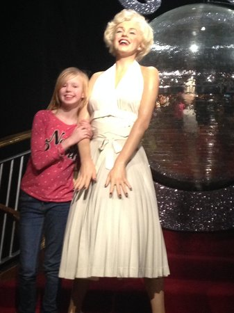 Madame Tussauds London: Here is a picture of my daughter with her idol Marilyn monroe