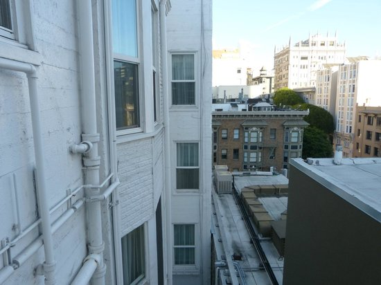 Cornell Hotel de France : Shot out our window.  Hotels is on left in foreground, gives you an idea of the style