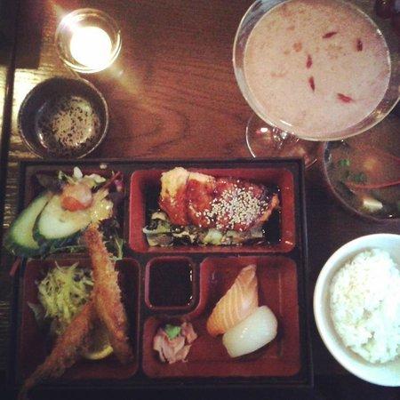 Banyi Japanese Dining: Salmon Teriyaki Bento and Sakura Ko Cocktail