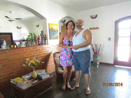 Pousada Farol de Saquarema: saguão