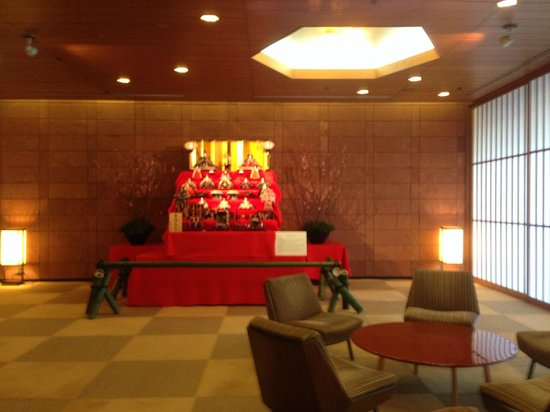 Hotel Okura Tokyo : Display for the Hina Matsuri (Doll Festival)