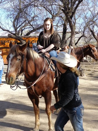 Houston's Horseback Riding: Bobbi Houston giving riding tips