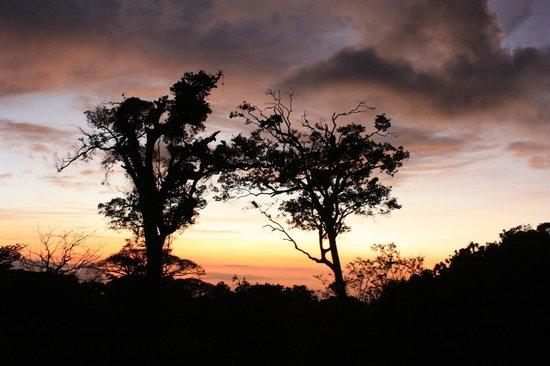 Hotel Fonda Vela: Poolside sunset view