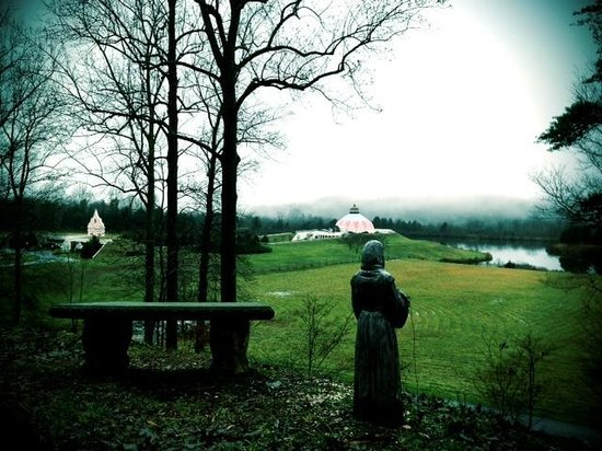 Satchidananda Ashram - Yogaville: overlooking the LOTUS temple grounds